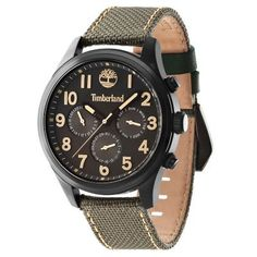 Timberland Rollins Multifunctional Watch (Charcoal Face/Olive Band)