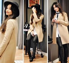 Get this look: http://lb.nu/look/7909836  More looks by Intrigue U: http://lb.nu/intriguemenow  Items in this look:  Guess Hat, Massimo Dutti Coat, Kurt Geiger Boots, Zara Pants, Asos Shirt, Asos Bow   #artistic #casual #minimal