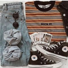 Some of My Favorite Vintage Outfits - and . Cute Casual Outfits, Edgy Outfits, Mode Outfits, Grunge Outfits, Grunge Fashion, Look Fashion, Teen Fashion, Fashion Outfits, Womens Fashion
