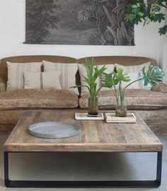 Mesa cuadrada metal y madera Love Home, New Homes, Showroom, Ph, House, Future, Vintage, Color, Home Decor