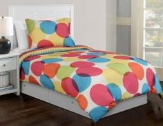 Colorful and bubbly #girlsbedding - Hallmart Kids Jada Girls Comforter Set, Twin or Full