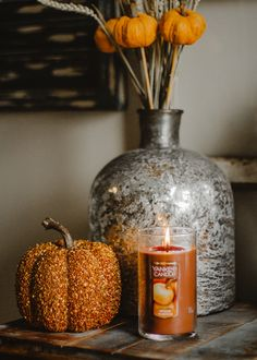Nothing says fall quite like a Spiced Pumpkin candle!