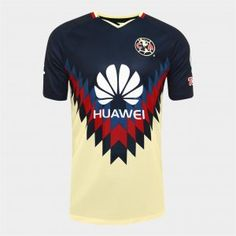 8d501676ef44c 2017-18 Jersey Club America Home Replica Yellow Shirt 2017-18 Jersey Club  America Home Replica Yellow Shirt