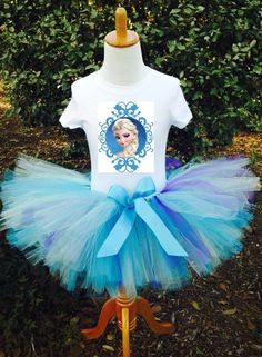 Frozen ELSA (inspired) Tutu Birthday Outfit  FREE PERSONALIZATION on Etsy, $34.99