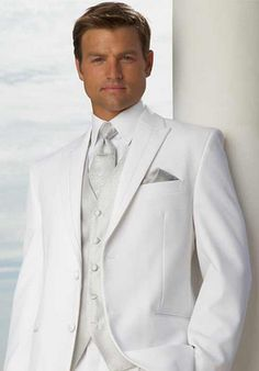 White Tuxedo is what I want for my groom!