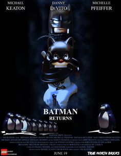 As soon as I saw the design for the Penguin Minifigure in the LEGO Batman Movie, I was reminded of Danny DeVito's character in Batman Returns from 1992. I was 10 years old when it hit theatre… Lego Film, Lego Tv, All Lego, I Am Batman, Lego Batman Movie, Superhero Movies, Lego Knights, Batman Returns, Lego Worlds