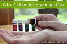 Here's a handy list for treating common aliments with essential oils. There are many great uses for essential oils which are effective natural alternatives!