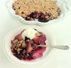 A Healthier Peach Blueberry Crisp | Baked in Maine