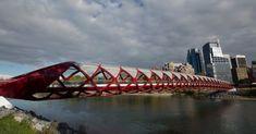 Spanish architect/engineer Santiago Calatrava to design a footbridge across the Bow River. The Peace Bridge Toronto City, Over The Bridge, Pedestrian Bridge, Santiago Calatrava, Calgary, Paris, Architecture, World, Peace