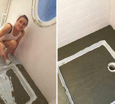 Du béton ciré pour la rénovation de notre salle de bain ! - Barnabé aime le café Home Deco, Bathroom, Ideas, Washroom, Full Bath, Home_decor, Bath, Thoughts, Bathrooms