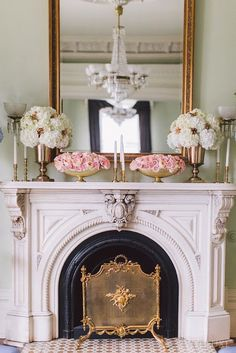 Stunning fireplace and mantle display.