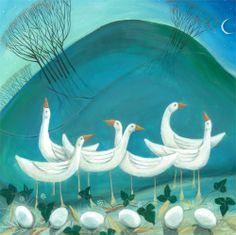 Carolyn Pavey - Six Geese a Laying ORIGINAL
