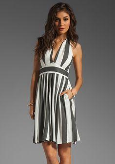 NEUW Daphne Dress in Black/White Stripes