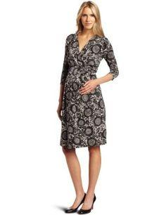 Ripe Maternity Women's Odessa Empire Dress, Black/Taupe, Small Ripe Maternity. $118.00