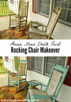 Annie Sloan Chalk Paint--Rocking Chair Makeover