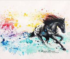 Appaloosa watercolor tattoo ideas