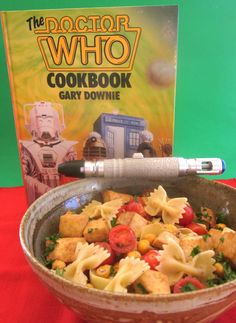 Doctor Who bow tie pasta salad recie (not from the cook book) on Cadry's Kitchen at http://cadryskitchen.com/2012/10/26/dr-who-party-bow-tie-pasta-salad-is-cool/