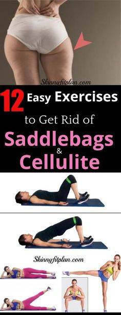 Workout Exercise 12 Best Exercises to Get Rid of Saddlebags and Cellulite Fast at Home. Thigh fat or saddlebags are the most common type of fat many people work out to get rid of. We have compiled a list of exercises to help achieved well toned thighs. Thigh Cellulite, Causes Of Cellulite, Cellulite Wrap, Cellulite Exercises, Reduce Cellulite, Thigh Exercises, Exercises For Outer Thighs, Cellulite Workout, Glute Exercises At Home