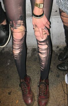#ripped #tights #docs .... and i might be partial to anyone who has crosses tattooed on their fingers hehehe :} !!