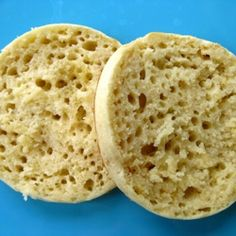 English muffins with soft, spongy texture and TONS of nooks and crannies.
