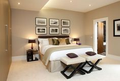 Beautifully designed bedroom with en-suite bathroom. #newhomes