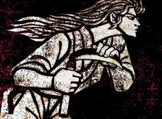 〈「滝平二郎の仕事展」の作品〉オリジナル木版画「鎌・その2」1964年