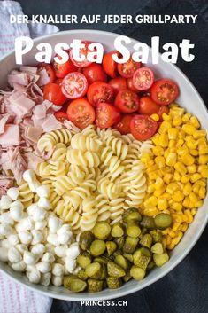 Lunch Recipes, Dinner Recipes, Cooking Recipes, Healthy Recipes, Healthy Lunches, Easy Pasta Salad, Pasta Salad Recipes, Le Diner, The Best