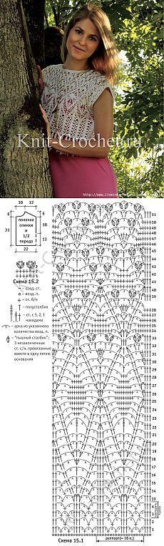 Mejores 204 imágenes de Crochet blusas mangas cortas y largas en ...