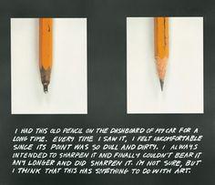 the pencil story, 1972-73 • john baldessari