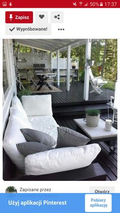 I like the look of a black deck! Outdoor Areas, Outdoor Rooms, Outdoor Living, Outdoor Decor, Outdoor Decking, Gazebos, Deck Colors, Outside Living, Diy Garden Decor
