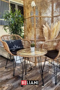 Passion Deco, Deco Addict, Deco Boheme, Lounge, Decoration, Wicker, Dining Chairs, Patio, Boho