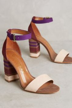 8019280f64e Love the color blocking on these ankle strap heels.
