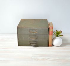 Industrial Metal Storage Cabinet; File Drawers; Metal Utility Chest By  TheGoldGator On Etsy