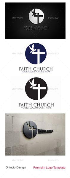 Faith Church Logo — Vector EPS #compassion #prayer • Available here → https://graphicriver.net/item/faith-church-logo/8976246?ref=pxcr