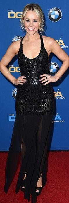 Rachel McAdams: Jewelry – Jacob & Co  Dress – Michael Kors  Shoes – Brian Atwood
