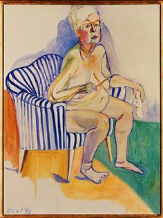 Alice Neel - Self Portrait, 1980 Omakuva, National Portrait Gallery Smithsonian Institution, Washington D. Kuva: © National Portrait Gallery / Smithsonian Institution / Art Resource / Scala, Firenze 2015 © Estate of Alice Neel
