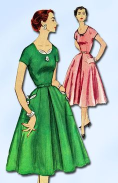 1950s Vintage Simplicity Pattern 1080 Misses Dress Size 12 Uncut! by vintage4me2 on Etsy