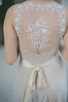 Beautiful lace BHLDN dress