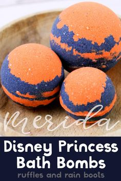 Princess Merida Bath Bombs Inspired by Disney's Brave - I can't wait to make these Merida bath bombs for the kids! They're going to love it–Brave is - Bath Bomb Recipes, Soap Recipes, Homemade Beauty, Homemade Gifts, Diy Beauty, Diy Gifts, Bath Boms, Spa Items, Bath Fizzies