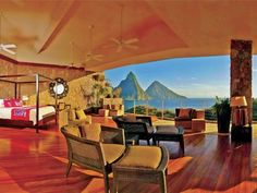Every room has this view of the beautiful Carribean Island, St. Lucia