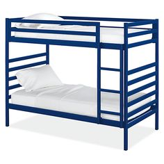 Fort Kids' Steel Bunk Bed - Fort Bunk Beds in Colors - Bunks & Lofts - Kids - Room & Board Bunk Bed Fort, Bunk Beds Boys, Bunk Beds With Stairs, Cool Bunk Beds, Kid Beds, Loft Beds, Modern Kids Bedroom, Modern Kids Furniture, Modern Bunk Beds