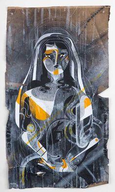 REKAONE Mixed media on found vintage paper Alex Pardee, Space Gallery, Black Books, Australian Artists, Street Artists, Magazine Art, Vintage Paper, Urban Art, Art World