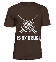Music Is My Drug   Love Music Womens T Shirts