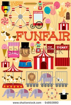 stock vector : fun fair illustration/vector
