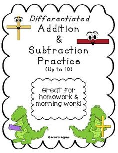 Addition & Subtraction Fluency Practice {Up to Addition And Subtraction Practice, 1st Grade Activities, Fluency Practice, Math Practices, Girls School, Math Stations, Morning Work, Kindergarten Math, Homework