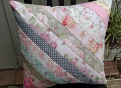 Shabby Chic  Quilted Pillow, Pillow, Handmade, Unique Gift Item, Gift for Her…