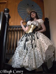 Sarah Richardson  Sort of a Gone With the Wind as seen by Tim Burton. #fashion #goth #gothic #neovictorian #corset #gown #woman #parasol