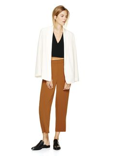 Swanky wide-leg trousers with a cropped hem, cut from Japanese fabric