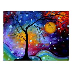 Personalized Postcards - Winter Sparkle Circle Of Life Madart...