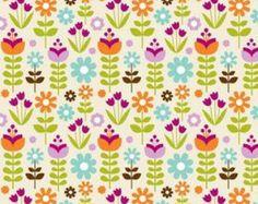 Little Matryoshka Garden in Cream by Carly Griffith for Riley Blake